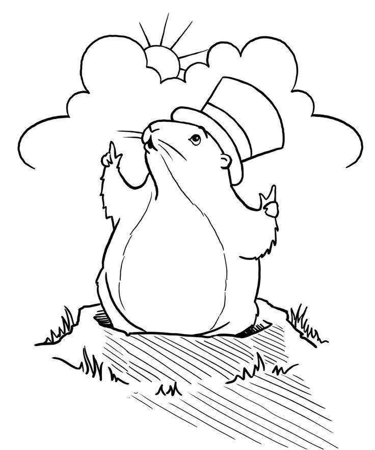 Groundhog Day Printable Coloring Pages
