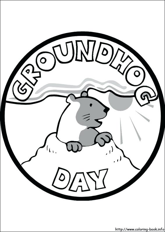 Groundhog Day Printable Coloring Pages At Getdrawings Com Free For