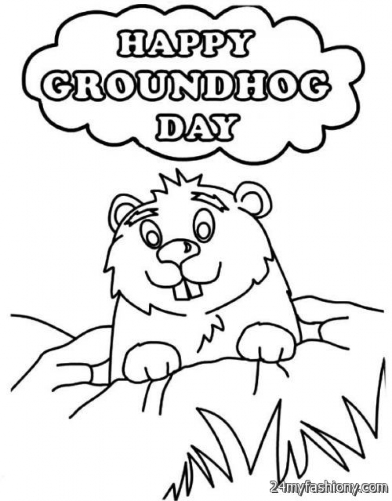 Groundhog Day Printable Coloring Pages At Getdrawings Com
