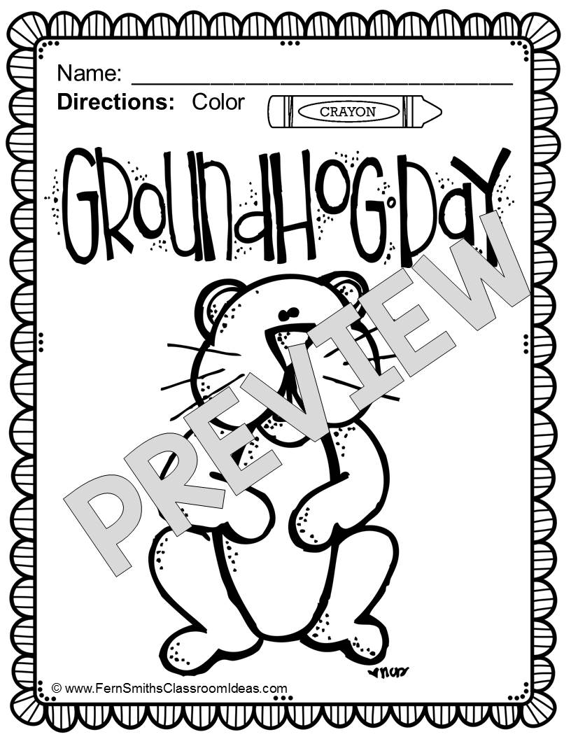 Groundhog Printable Coloring Pages At Getdrawings Com Free