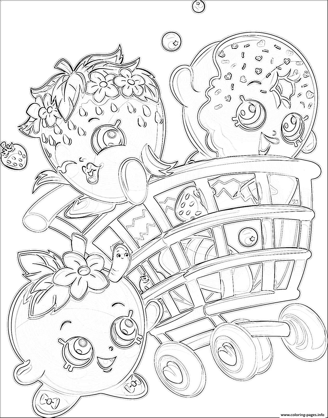 1361x1733 Shopkins Group Coloring Pages Free