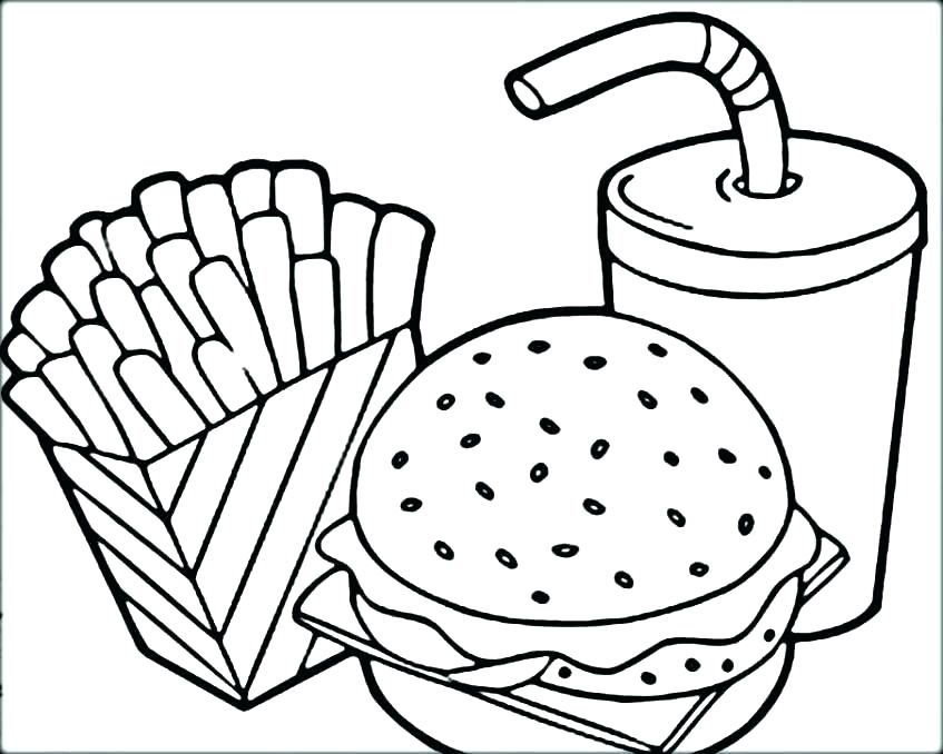 847x678 Food Group Coloring Pages For Preschoolers