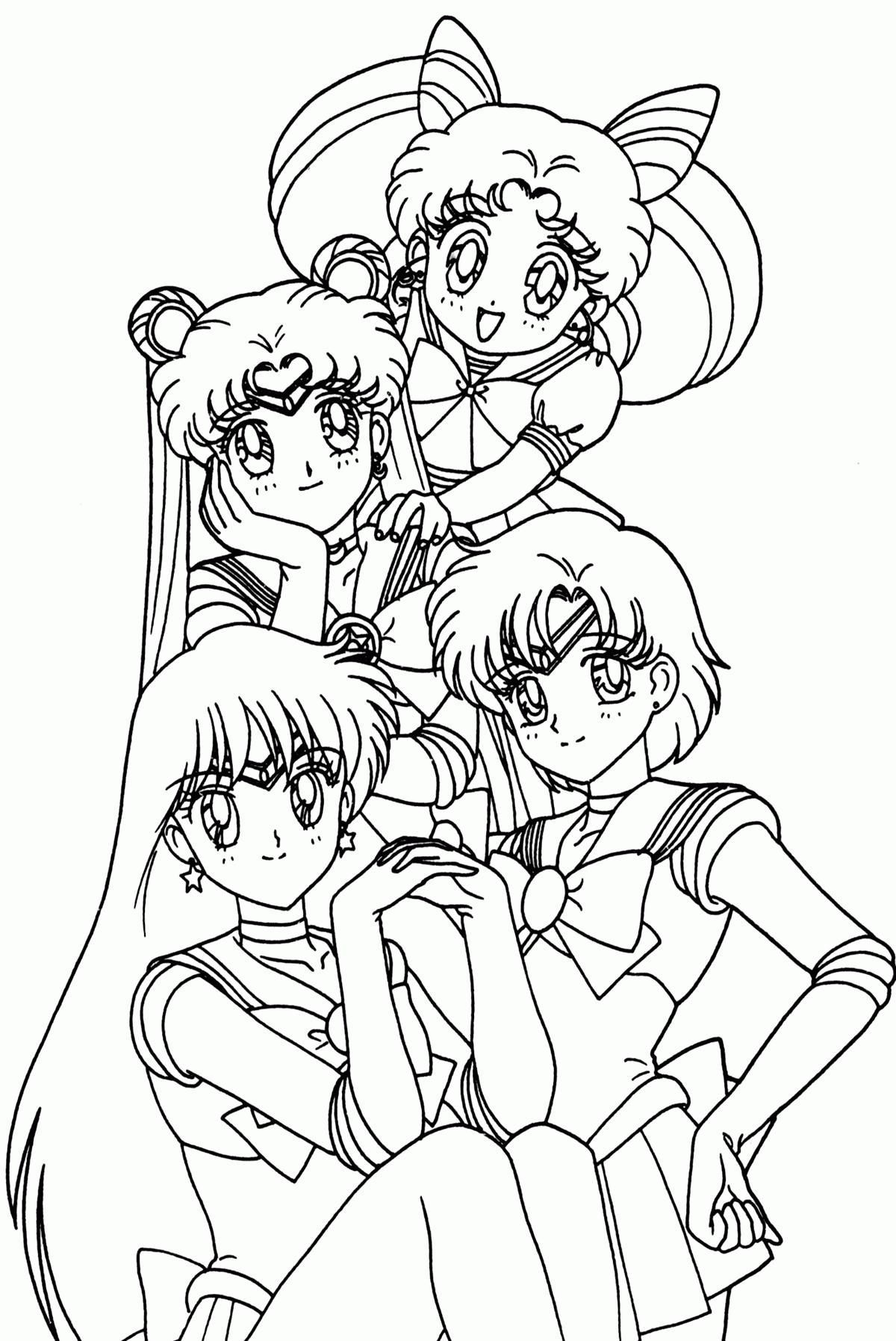 1200x1795 Anime Group Coloring Pages Coloring Sheets