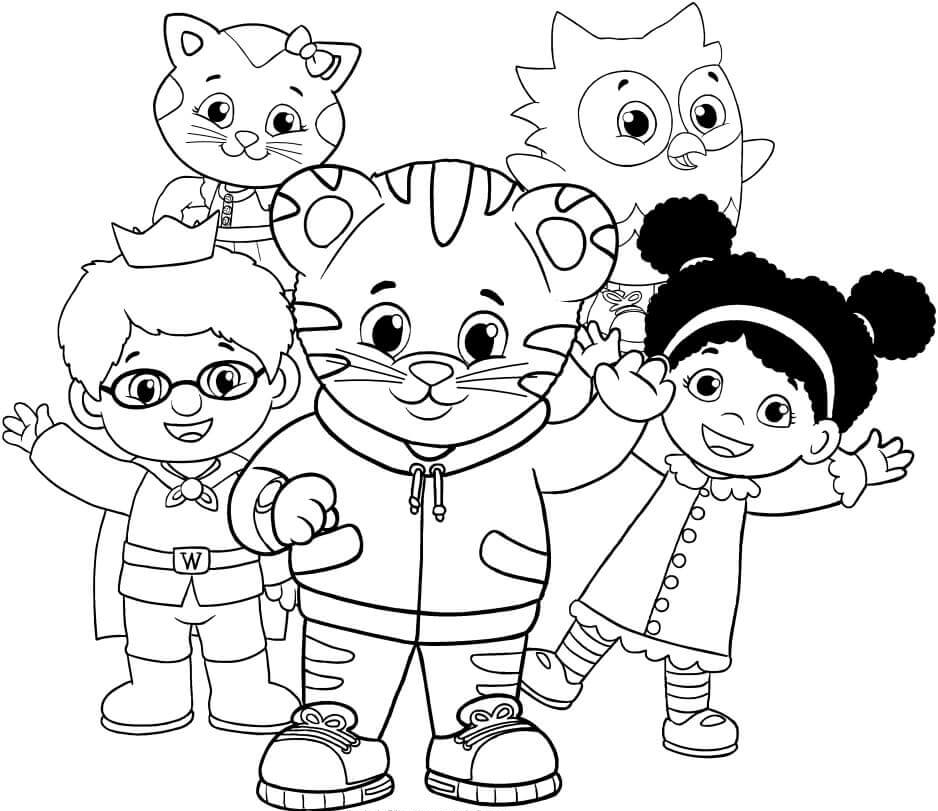938x811 Free Printable Daniel Tiger's Neighborhood Coloring Pages
