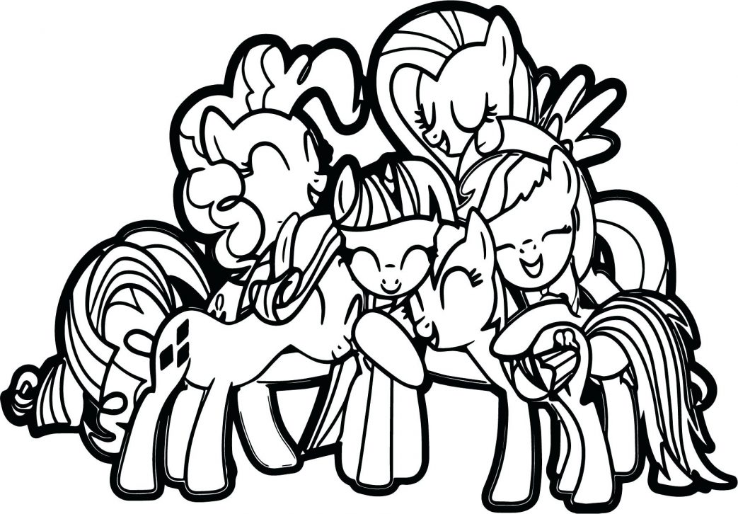 1043x726 Coloring Pages Pony Impressive Of My Little Friendship Is Magic