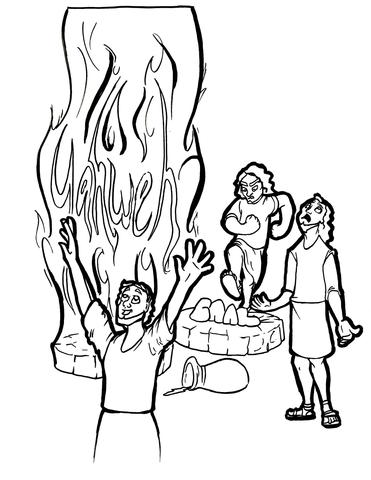 371x480 Elijah And Prophets Of Baal Coloring Page Children's Ministry Deals