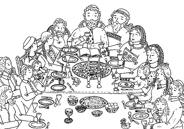 600x423 Happy Passover Coloring Pages