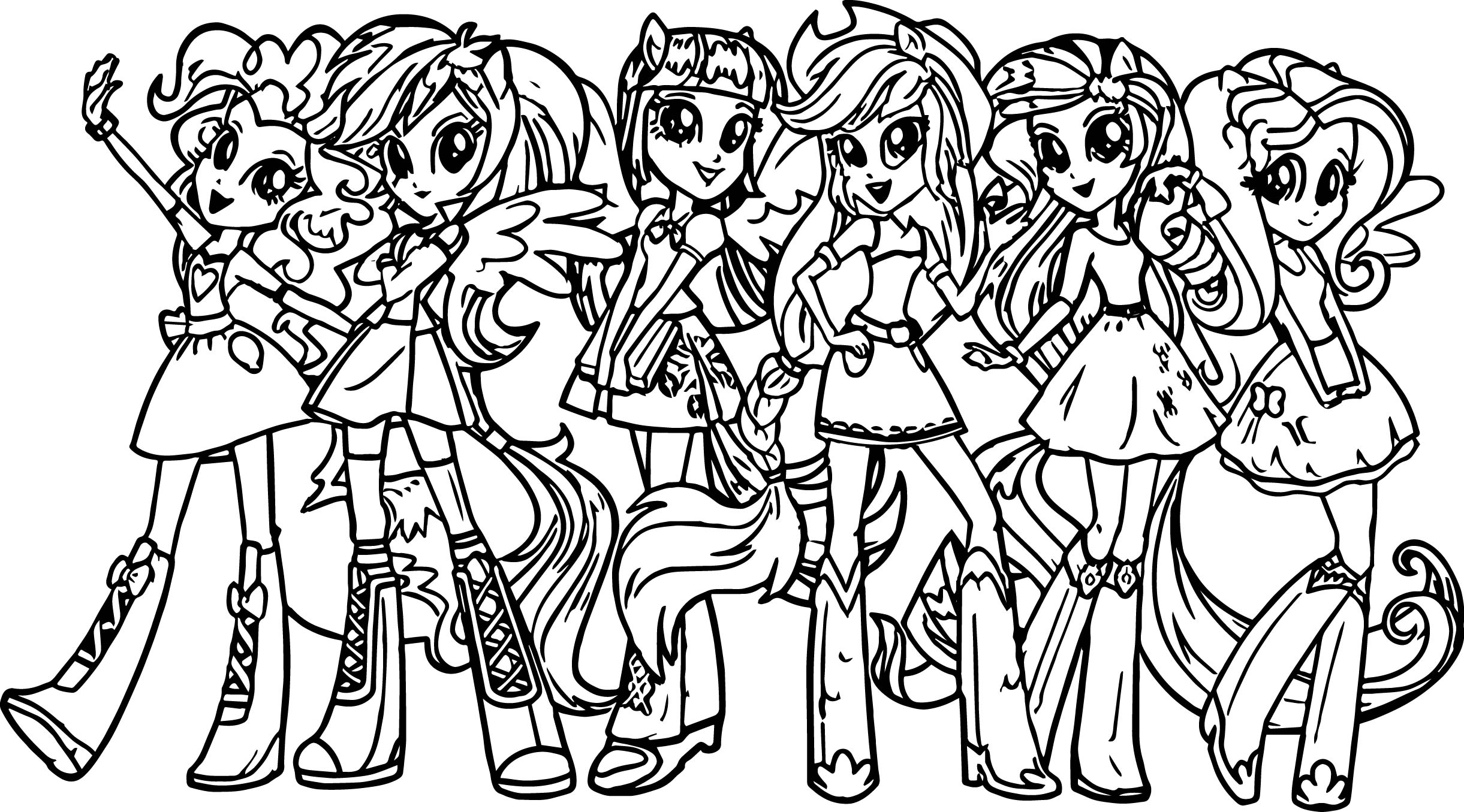 2442x1355 Kids Under My Little Pony Coloring Pages To Print