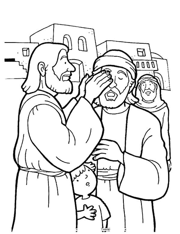600x779 Kindness, Kindness Is Jesus Healing People Coloring Pages