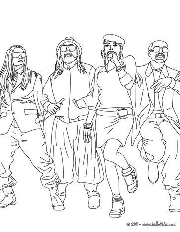 364x470 The Black Eyed Peas Coloring Page More Famous People Coloring