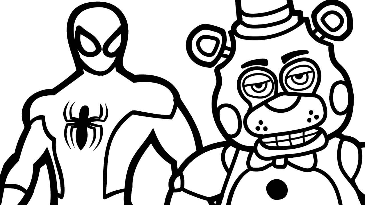 1280x720 Fnaf Coloring Pages Coloring Pages For Kids