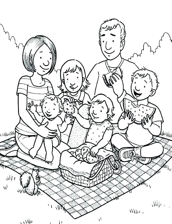 600x780 Bear Family Coloring Pages Picnic Coloring Page Coloring Pages