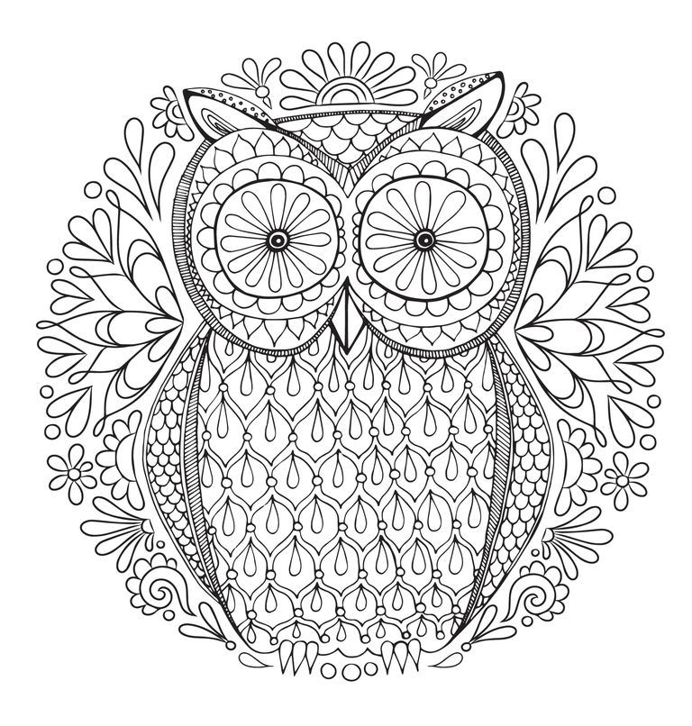 768x806 Grown Up Coloring Pages