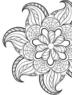 236x311 Adult Coloring Pages Flowers Adult Coloring Pages