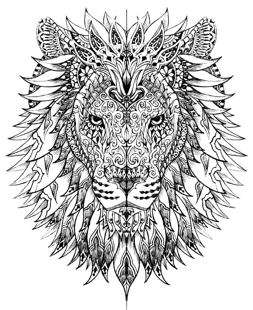 836x1024 Animals Cool Adult Coloring Pages