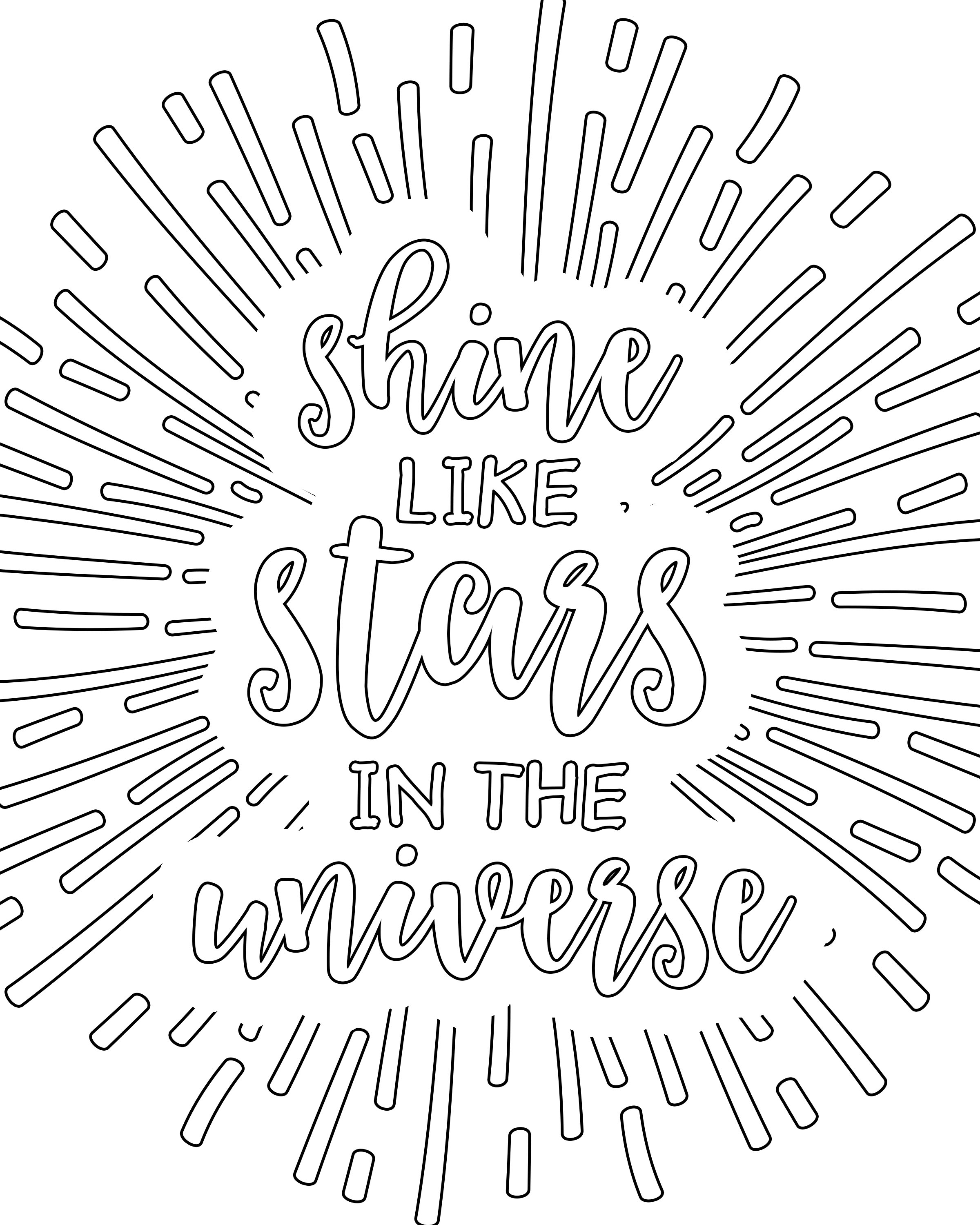 2400x3000 Shine Like Stars In The Universe Free Printable Adult Coloring