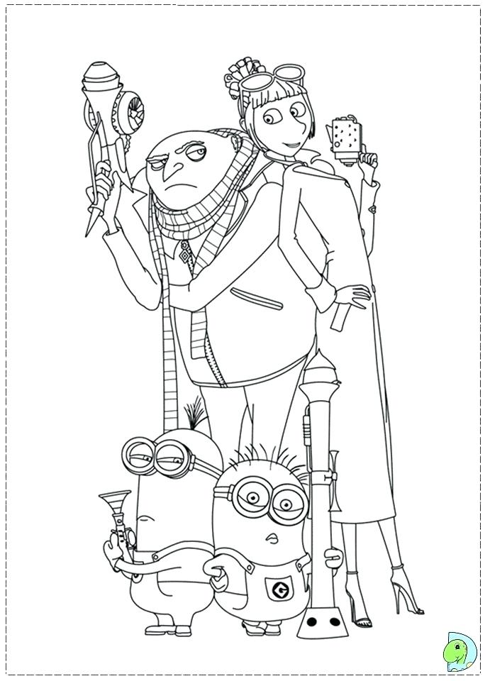 691x960 Gru Coloring Page Coloring Pages Gru Colouring Pages