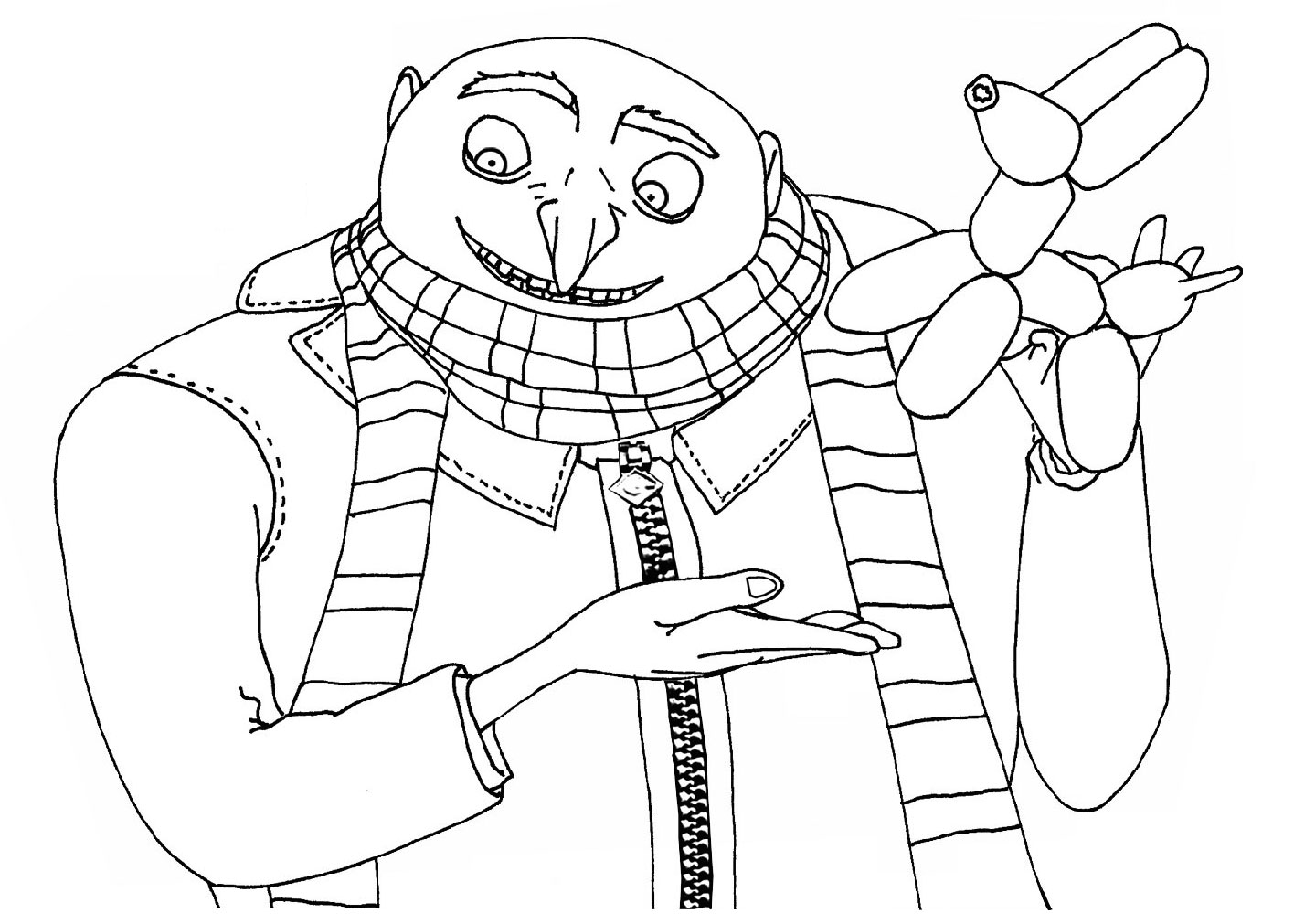 1416x1011 Gru Despicable Me Coloring Pages