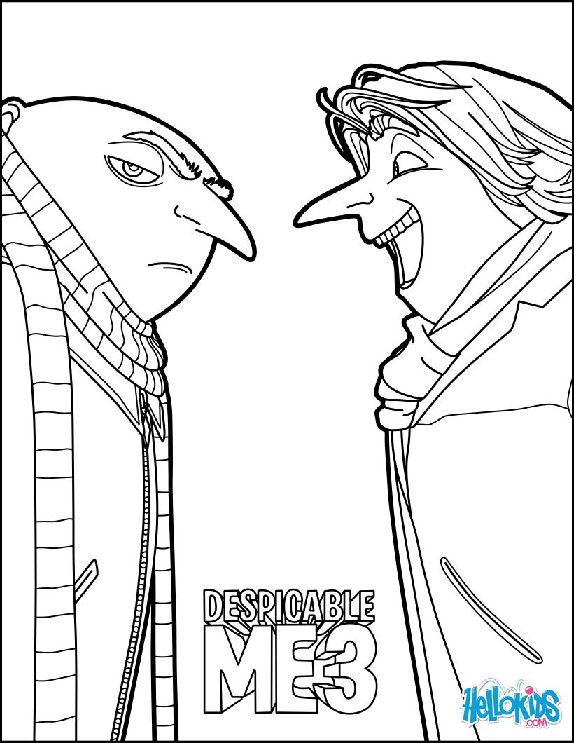 820x1060 Gru And This New Friend Coloring Page More Despicable Me Coloring
