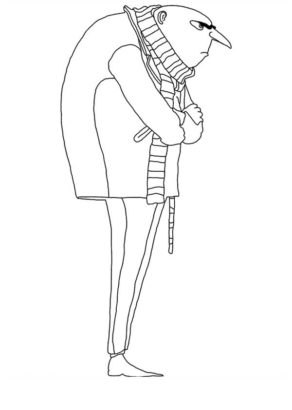 600x840 Gru From Despicable Me Coloring Page