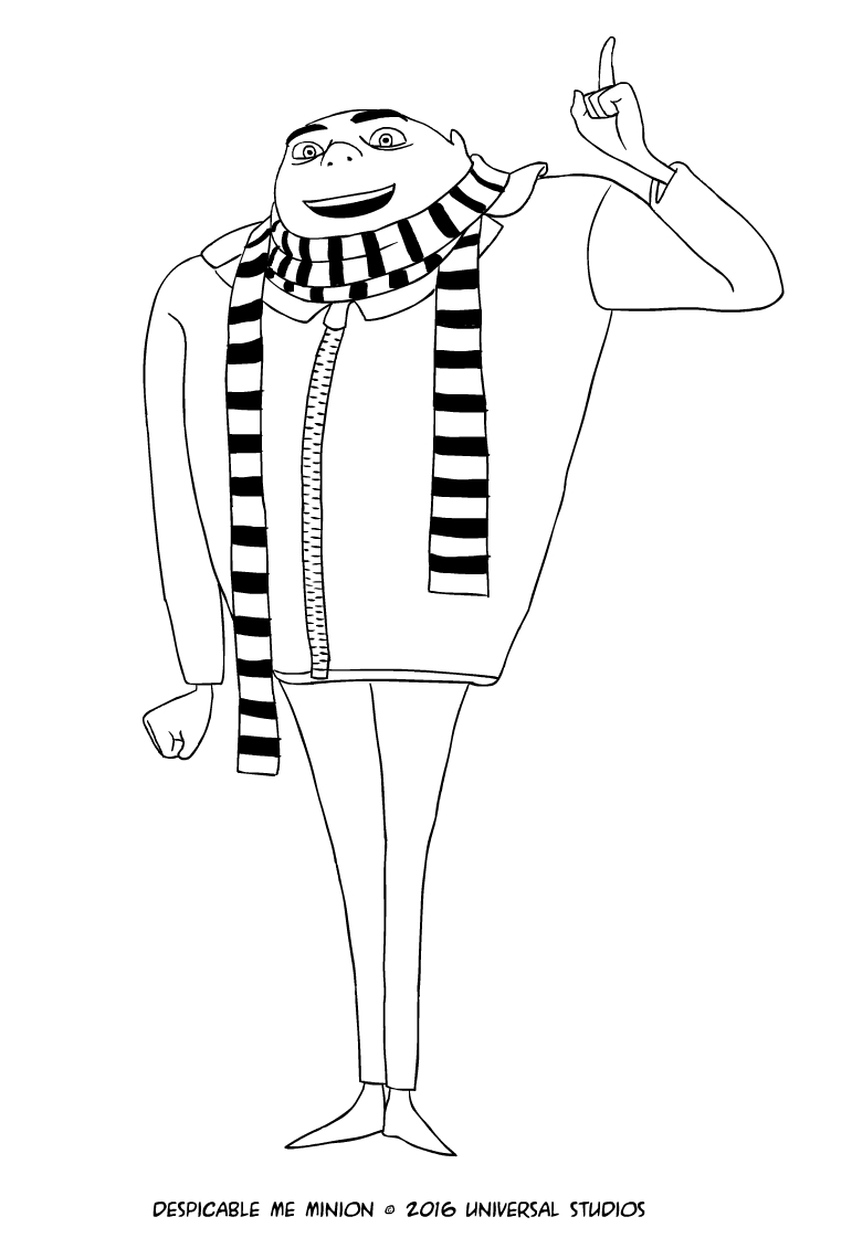 771x1121 Gru Of Despicable Me Coloring Page