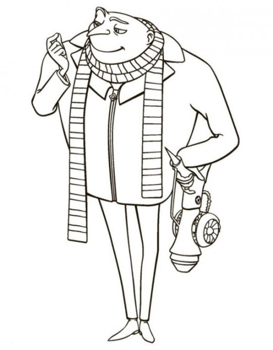 550x705 Mister Gru Despicable Me Coloring Pages Picture Disney
