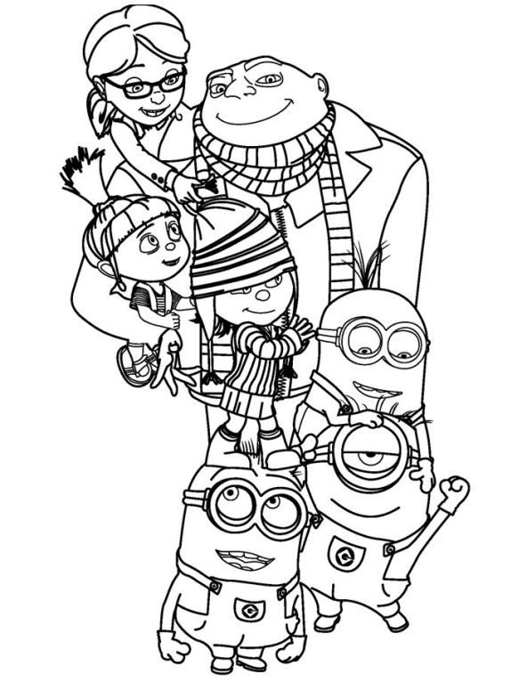 592x766 Coloring Page Despicable Me