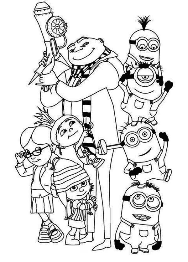 600x837 Free Coloring Sheets Of Minions