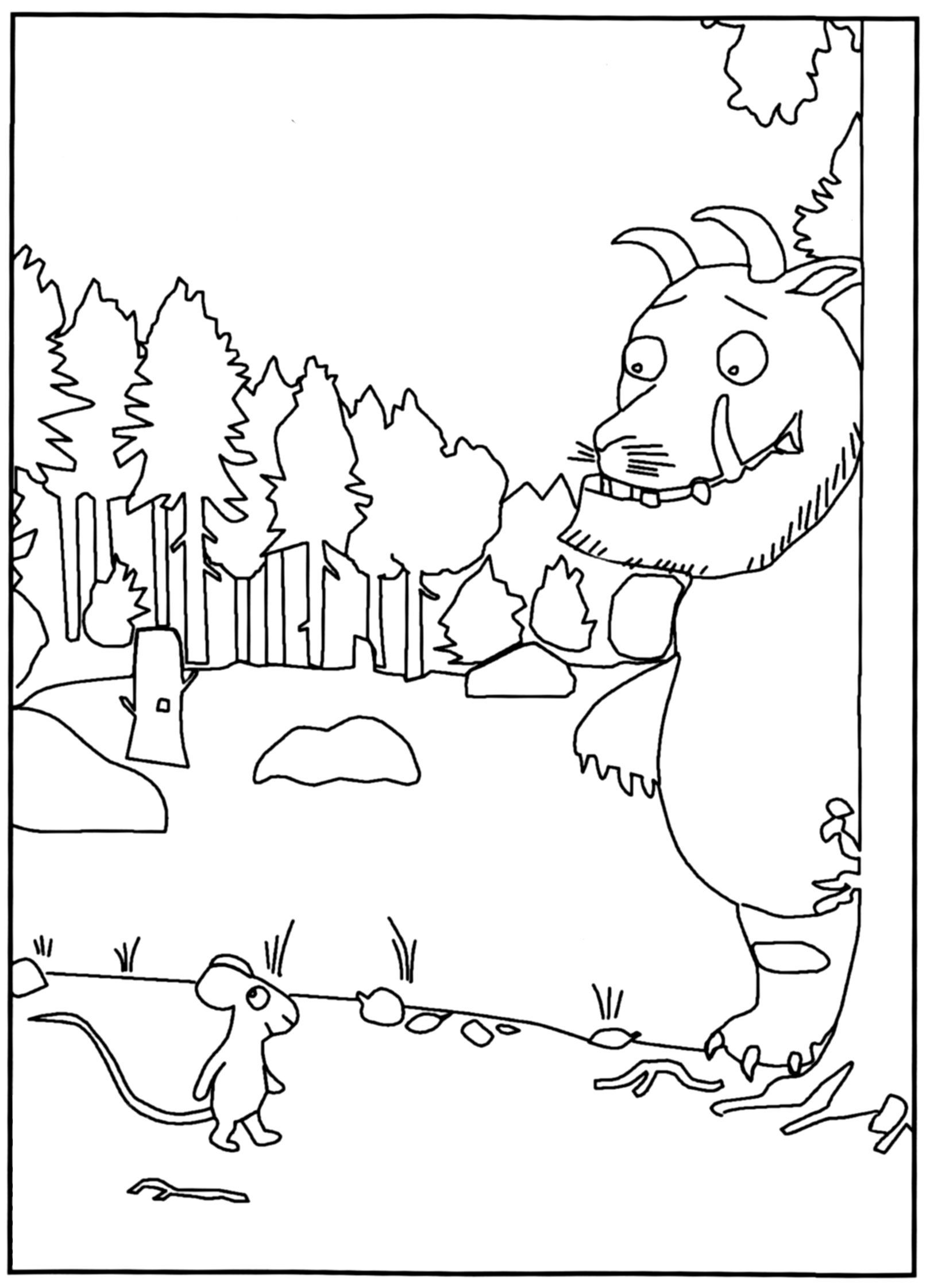 Gruffalo Coloring Pages At Getdrawings Free Download