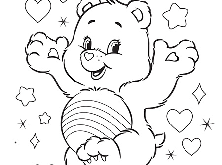 450x334 Never Fear, Cheer Is Here! Care Bears Activity Care Bears Coloring