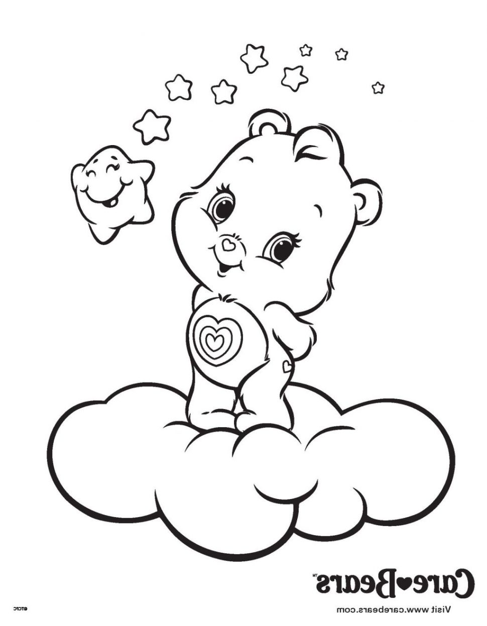 970x1247 Best Care Bear Coloring Pages For Your Kids Wonderheart Image