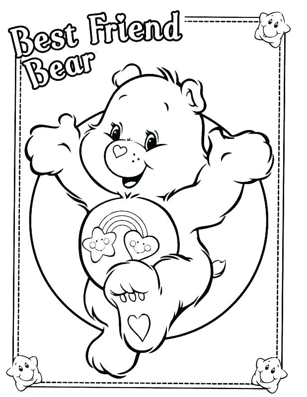 618x800 Care Bear Coloring Page Black Bear Coloring Page Black Bear