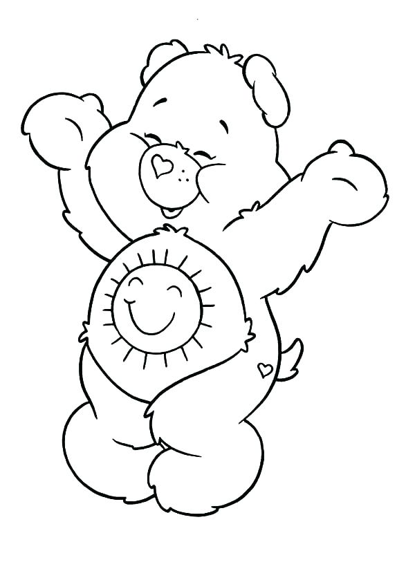 600x839 Care Bear Coloring Pages Cloud Coloring Sheet Care Bears Coloring