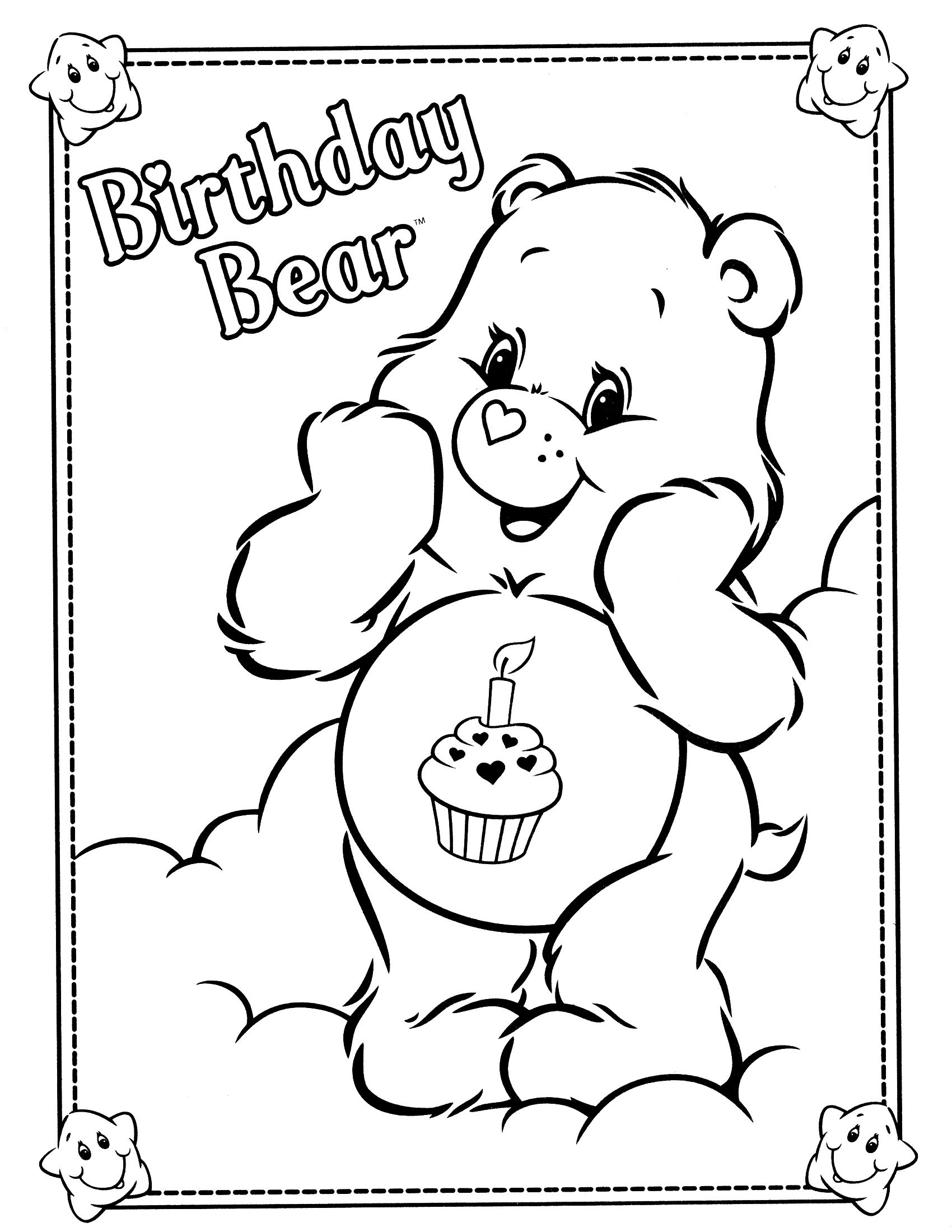 1700x2200 Care Bear Colouringes To Print Funshine Coloring Grumpy Cousins