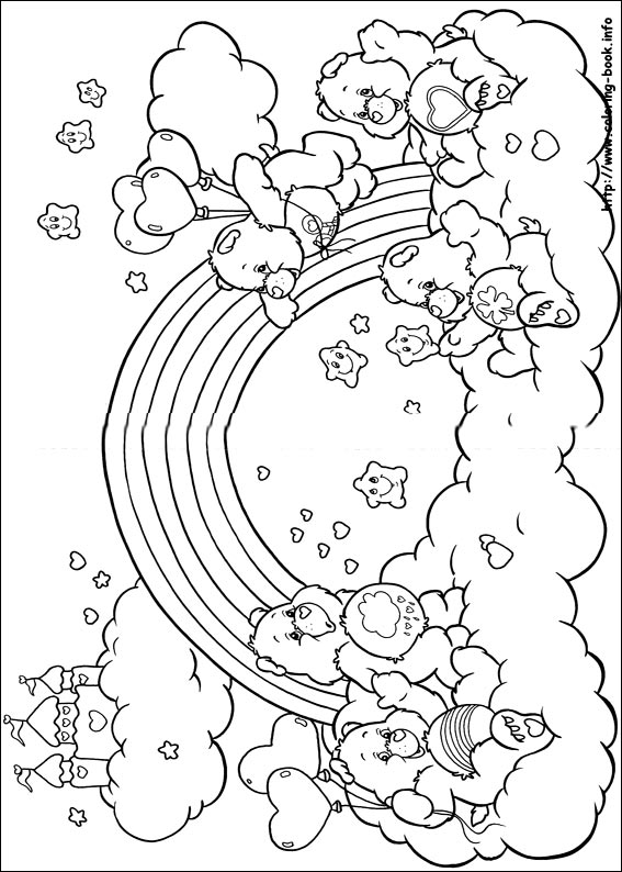 567x794 Care Bears Coloring Pages