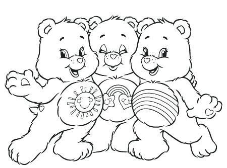 450x334 Care Bears Coloring Pages Marvellous Design