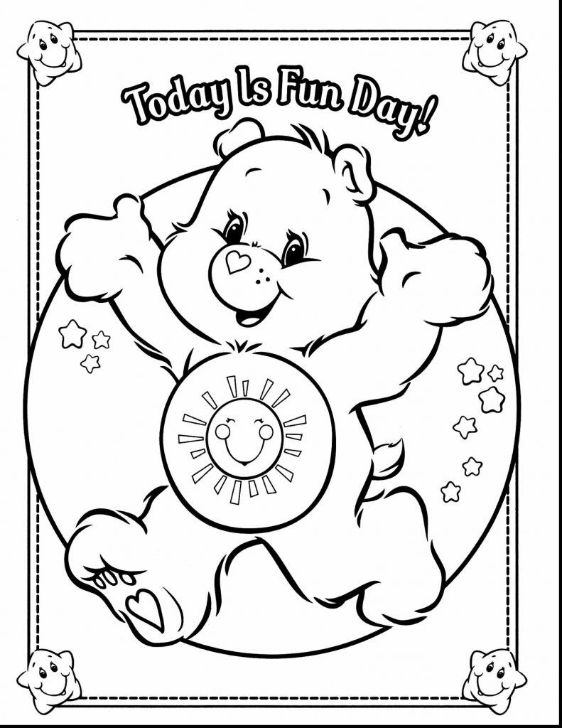 791x1024 Care Bears Coloringages Freerintableicture Sheets For Kids Bedtime