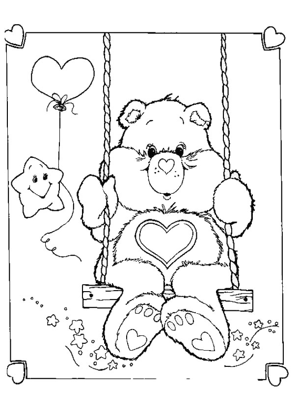 607x850 Astounding Care Bears Coloring Pages The On Book Info