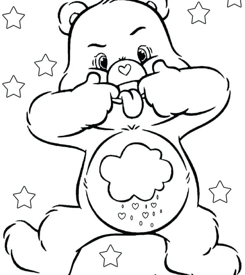 804x900 Grumpy Care Bear Coloring Pages Kids Coloring All Care Bear