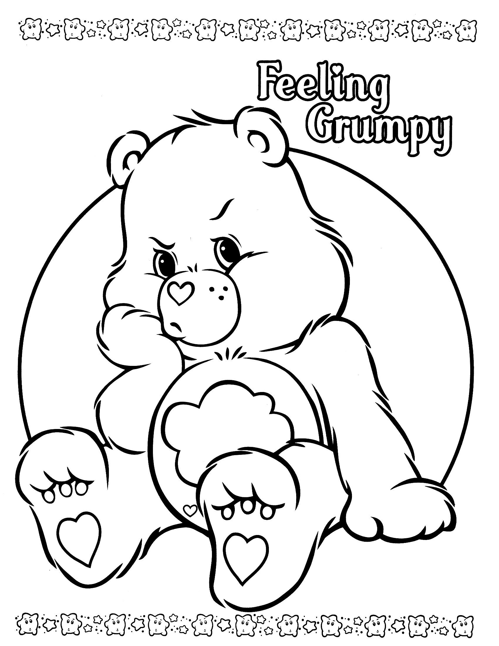 1700x2200 Care Bears Coloring Page Care Bears Care Bears