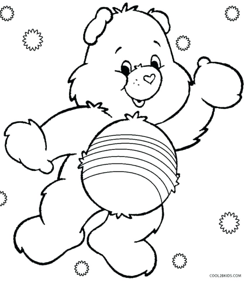 848x960 Coloring Pages Care Bears Coloring Pages Free Preschool Bear