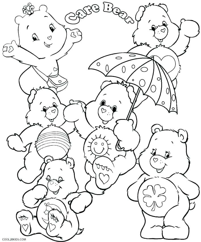 708x850 Bear Coloring Pages Trend Care Bear Coloring Pages Print Printable