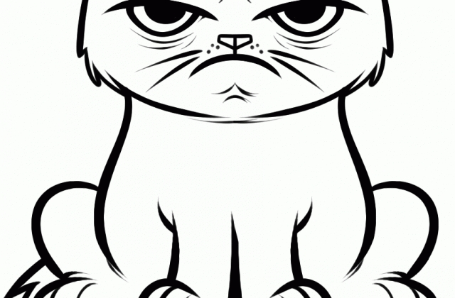 Grumpy Cat Coloring Pages