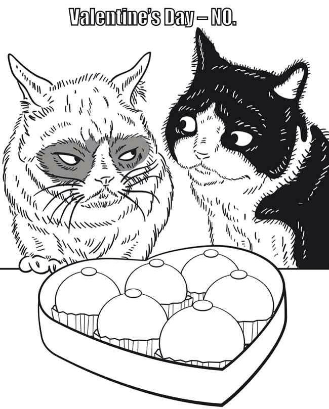 Cats in Love coloring page | Valentines day coloring page ... | 809x650