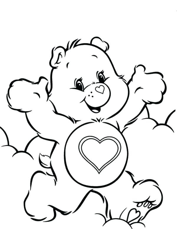 600x776 Care Bears Coloring Pages Care Bears Coloring Pages A Care Bears