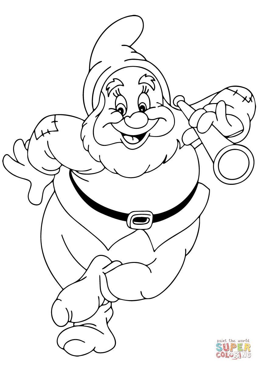 848x1200 Frightening Dwarfs Coloring Pages Disney Grumpy Dwarf Sleepy