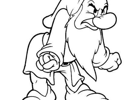 440x330 Grumpy Coloring Page, Grumpy Dwarf Coloring Pages