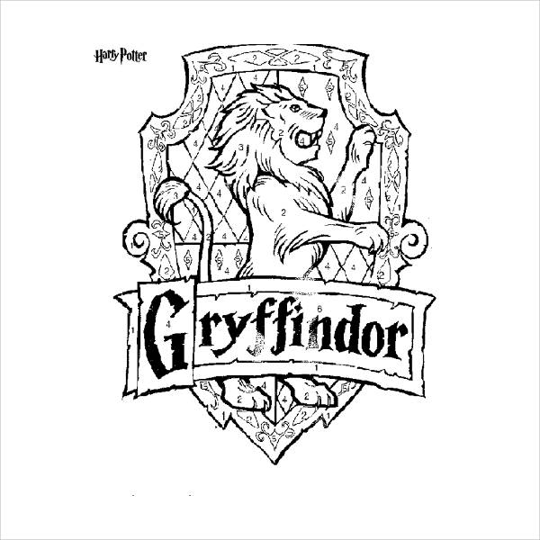 Gryffindor Coloring Page