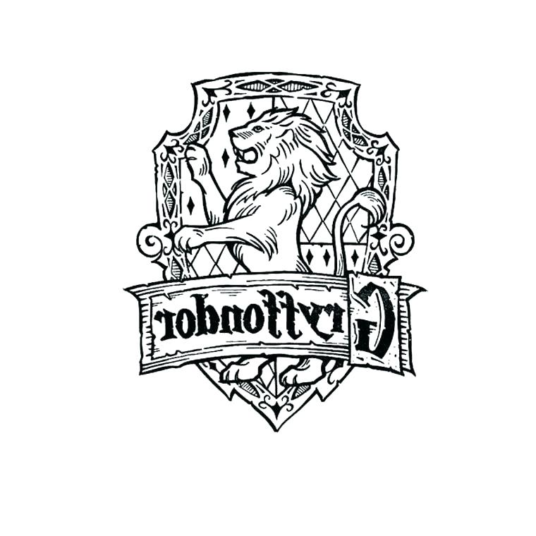 760x760 Official Gryffindor Crest Printable Coloring Page Harry Potter