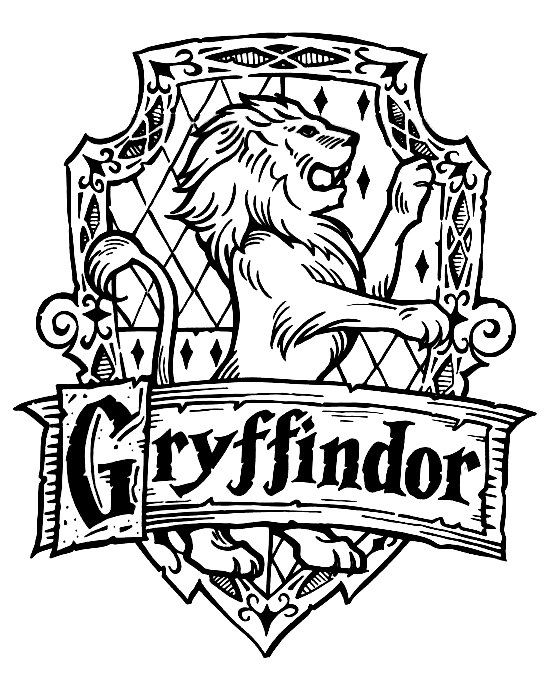 Gryffindor Crest Coloring Pages